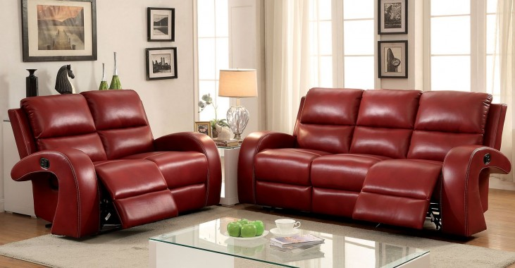 Odette Red Living Room Set