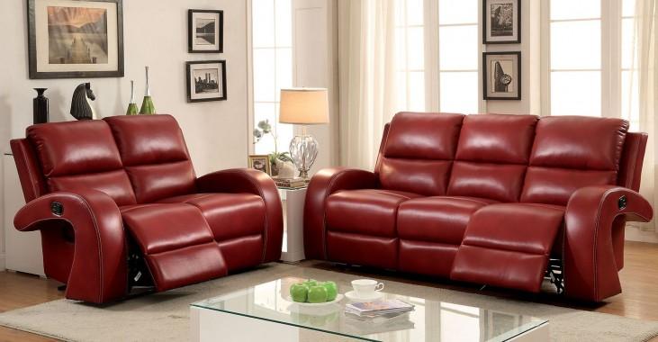 Odette Red Living Room Set