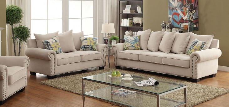Skyler Ivory Living Room Set