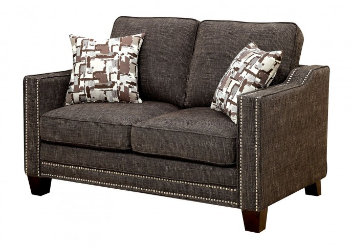 Kerian Brown Chenille Loveseat