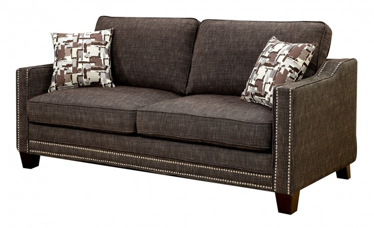 Kerian Brown Chenille Sofa