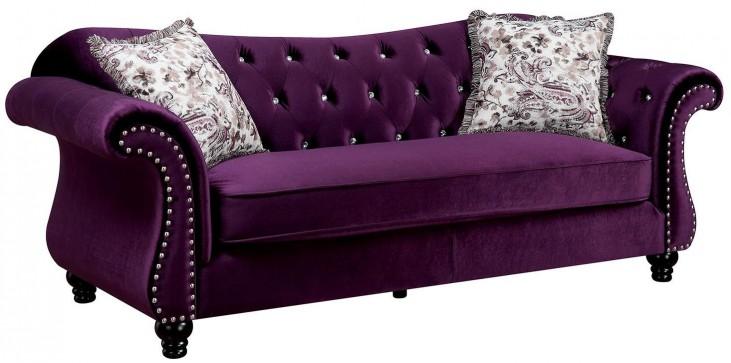 Jolanda Purple Flannelette Fabric Sofa