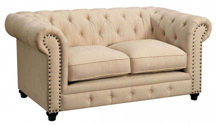 Stanford Ivory Fabric Loveseat