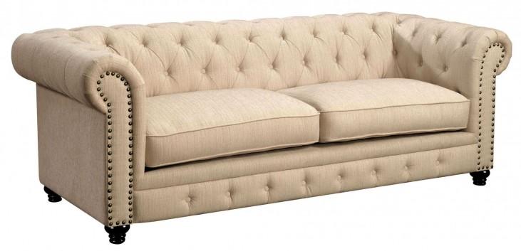 Stanford Ivory Fabric Sofa