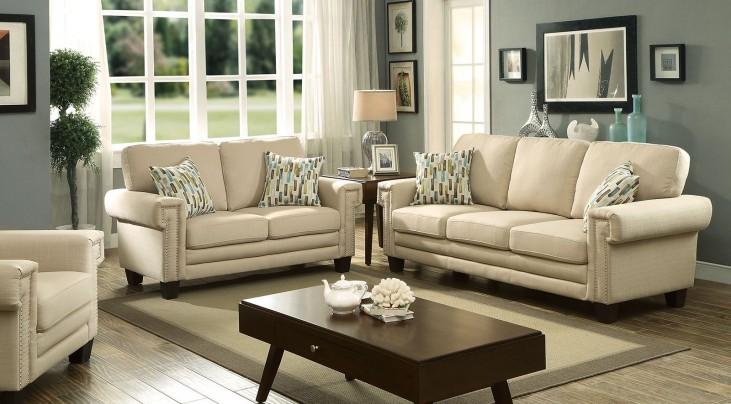 Sanders Beige Living Room Set