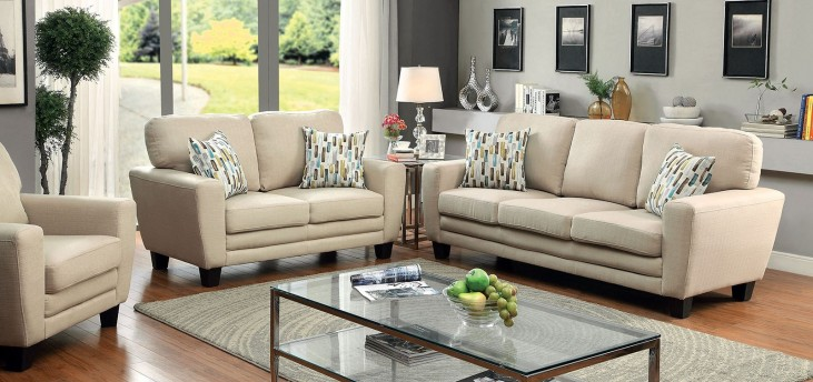 Saffron Beige Living Room Set