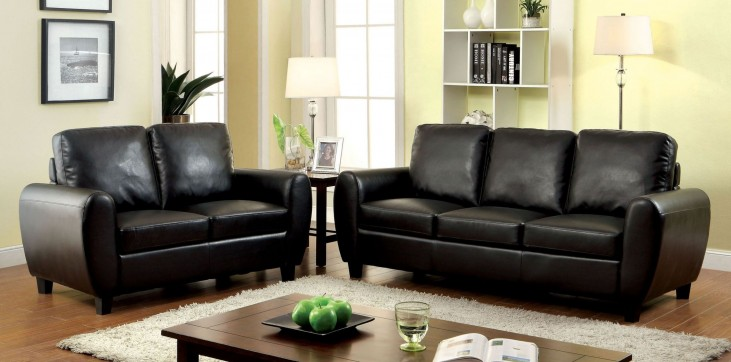 Hatton Black Living Room Set