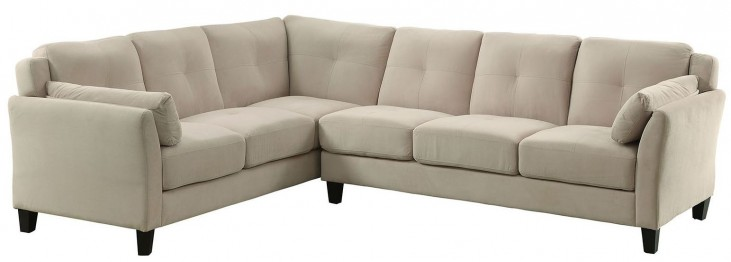 Peever II Beige Sectional