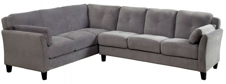 Peever II Warm Gray Sectional
