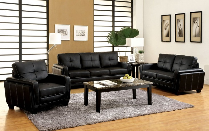 Blacksburg Black Living Room Set