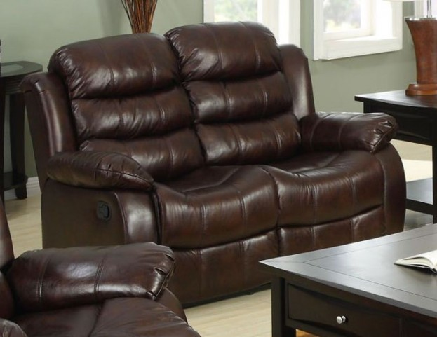 Berkshire Rustic Brown Reclining Loveseat