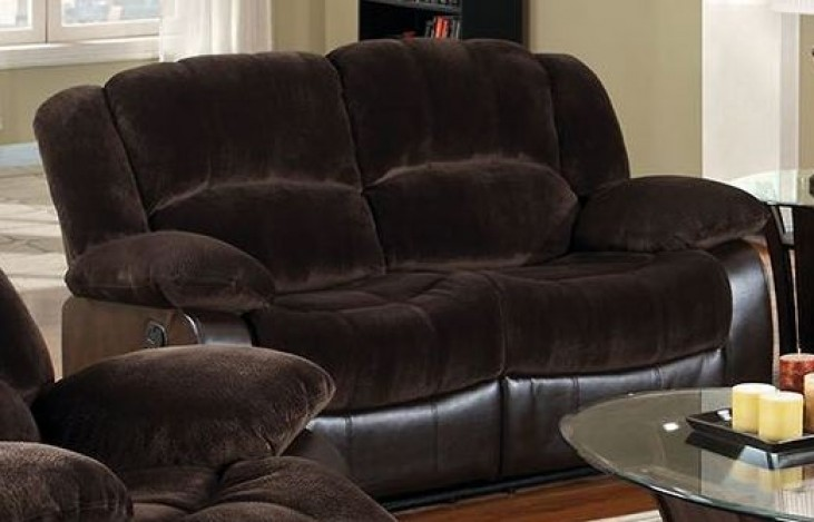 Winslow Rustic Brown Reclining Loveseat