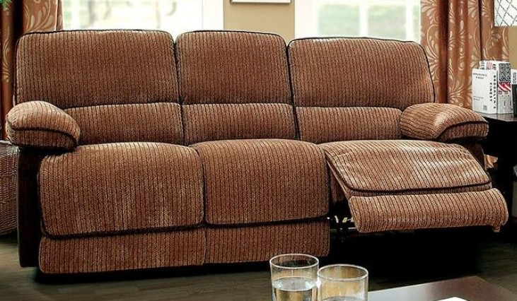 Hazlet Brown Chenille Fabric Sofa