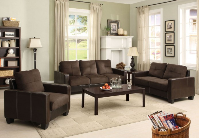 Laverne Chocolate Living Room Set