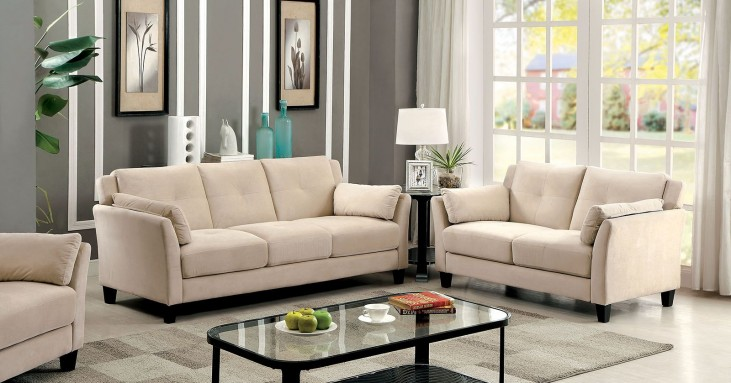 Ysabel Beige Living Room Set