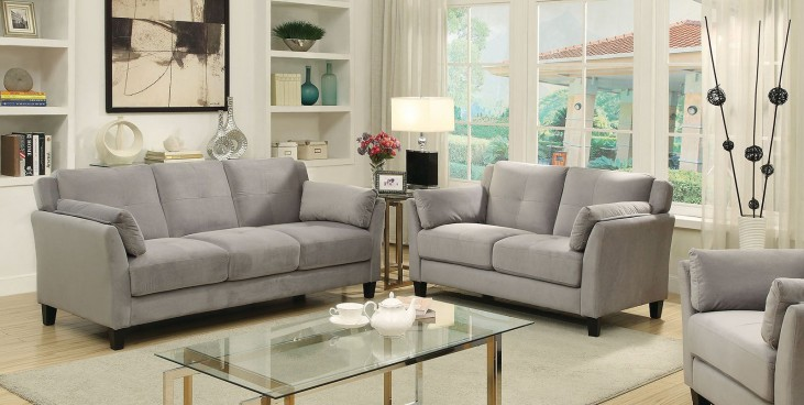 Ysabel Warm Gray Living Room Set