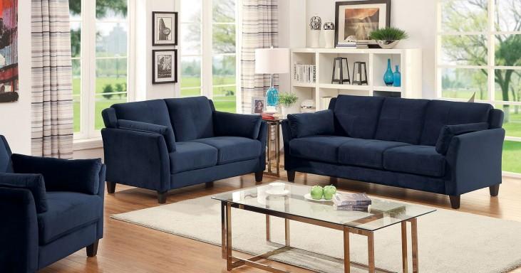 Ysabel Navy Living Room Set