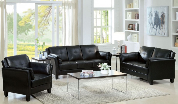 Pierre Black Living Room Set
