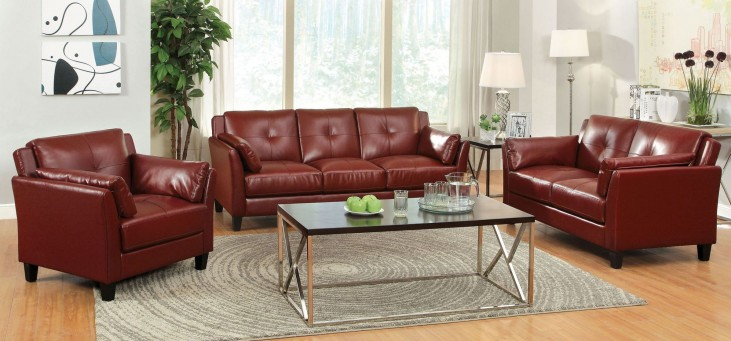 Pierre Red Living Room Set