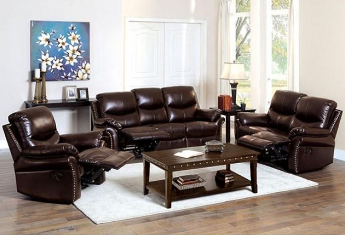 Dudhope Rustic Dark Brown Reclining Living Room Set