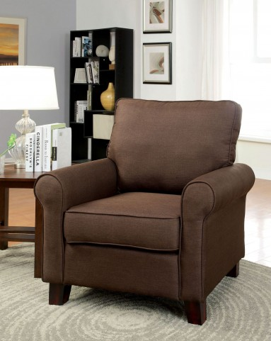 Hensel Brown Flax Fabric Chair