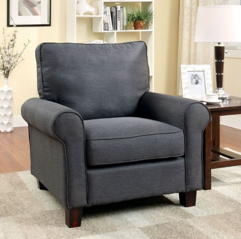 Hensel Gray Flax Fabric Chair