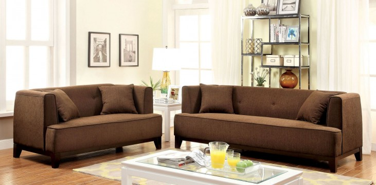 Sofia Brown Living Room Set