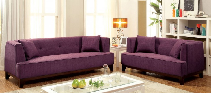 Sofia Purple Living Room Set