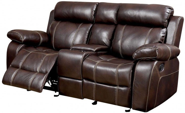 Chancellor Brown Console Loveseat