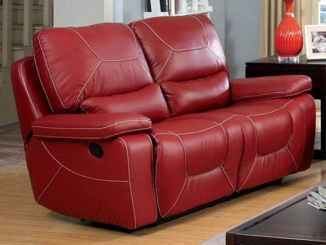 Newburg Red Reclining Loveseat