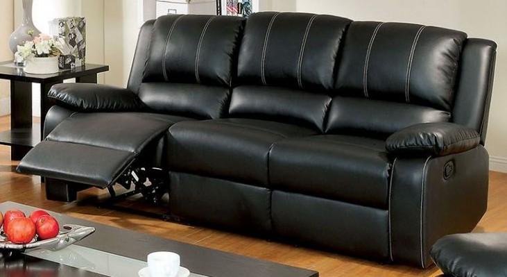 Gaffey Black Reclining Sofa