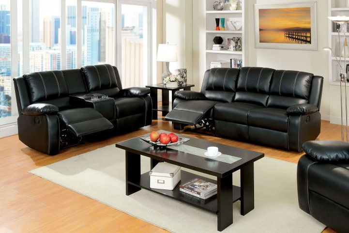 Gaffey Black Reclining Living Room Set