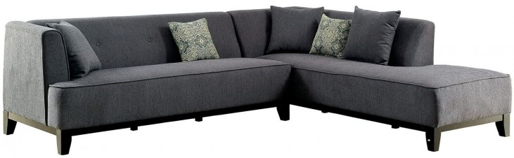 Sofia II Gray Sectional