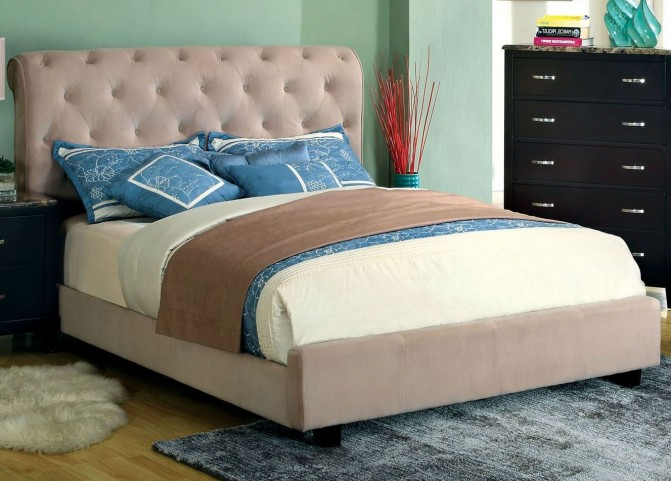 Lemoore Beige King Bed