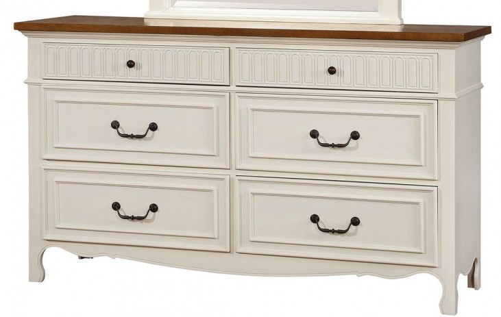Galesburg White and Oak Dresser