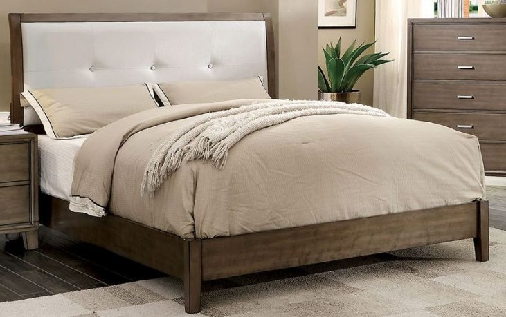 Enrico I Gray Cal. King Upholstered Bed