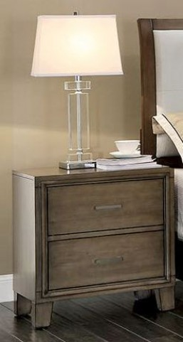 Enrico I Gray Nightstand