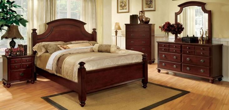 Gabrielle II Cherry Panel Bedroom Set