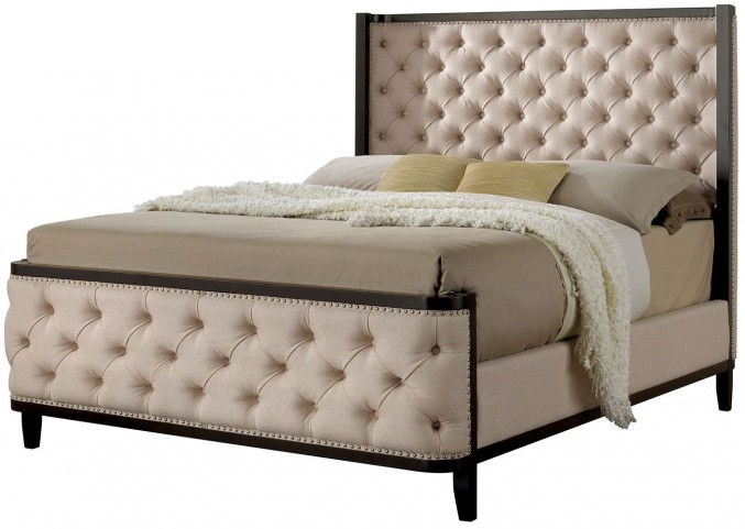 Chanelle Queen Upholstered Panel Bed