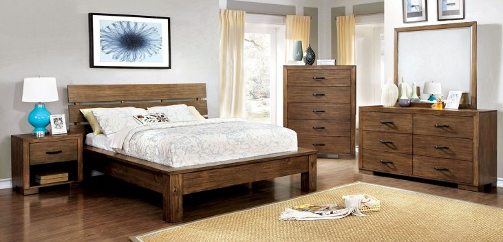 Roraima Reclaimed Pine Wood Bedroom Set