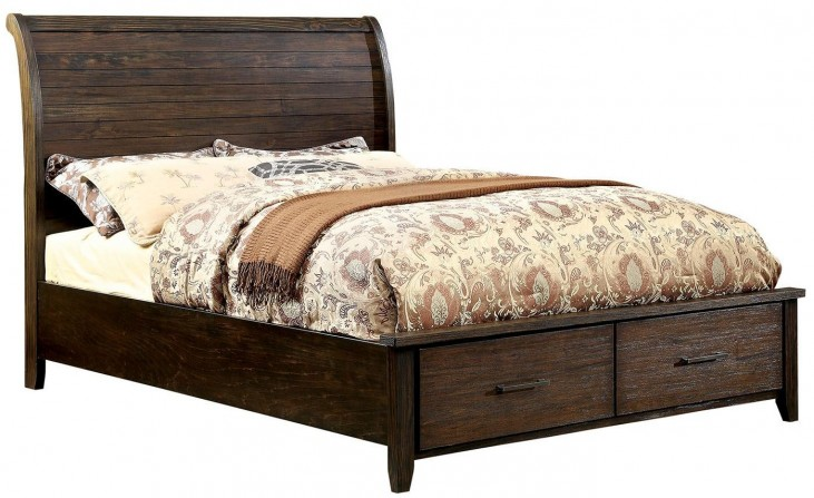 Ribeira Dark Walnut Queen Storage Bed