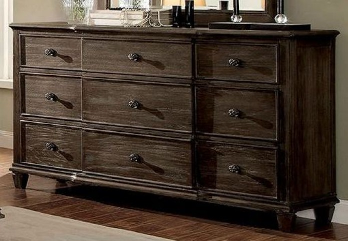 Halliday Wired Brushed Gray Dresser
