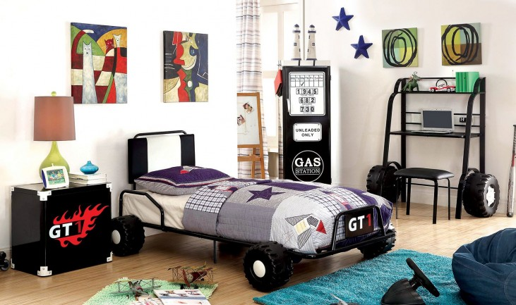 Power Racer Youth Platform Bedroom Set