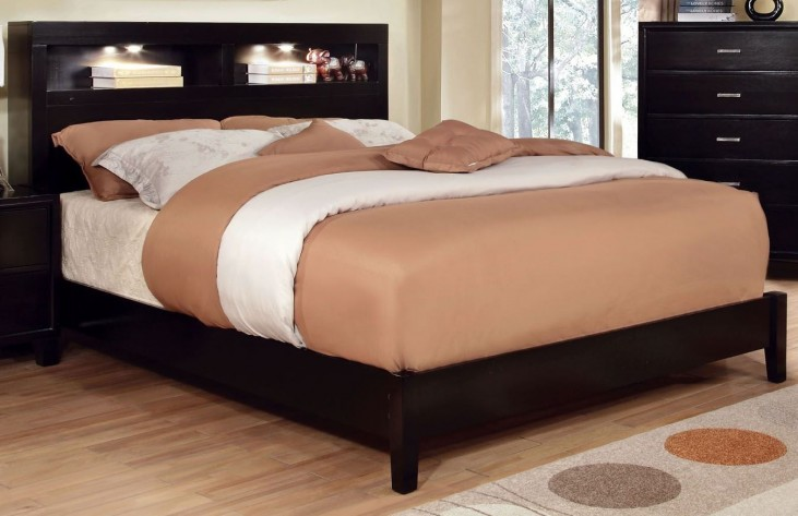 Gerico II Dark Espresso King Storage Platform Bed