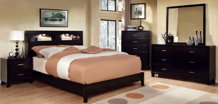 Gerico I Dark Espresso Bedroom Set