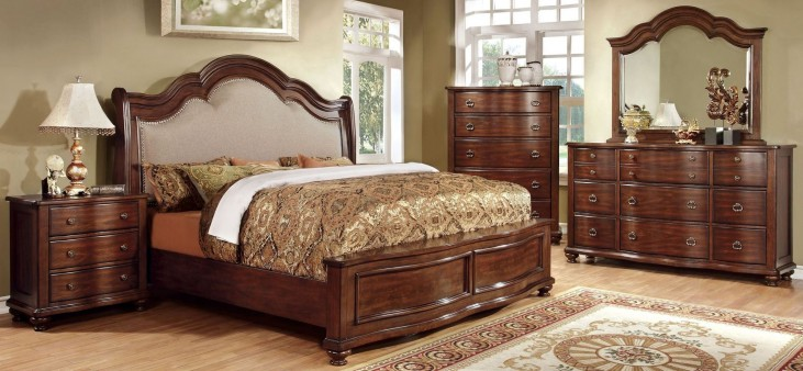 Bellavista Brown Cherry Bedroom Set