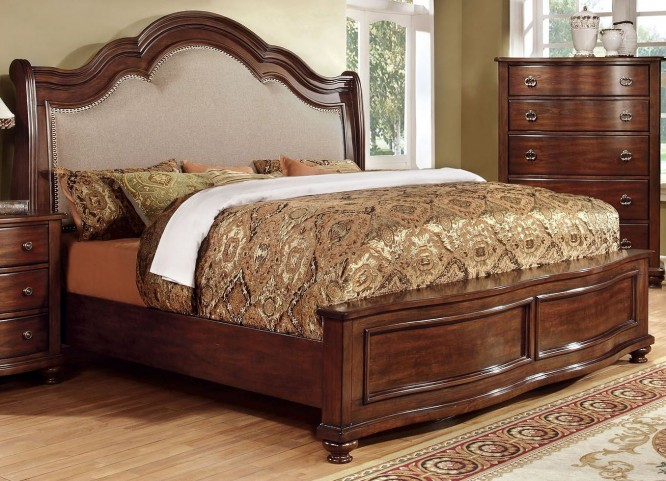 Bellavista Brown Cherry Cal. King Bed