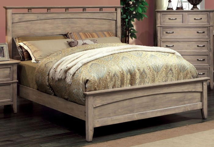 Loxley Camel Finish King Bed