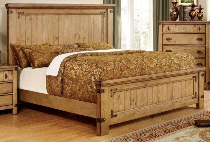 Pioneer Burnished Pine Queen Bed