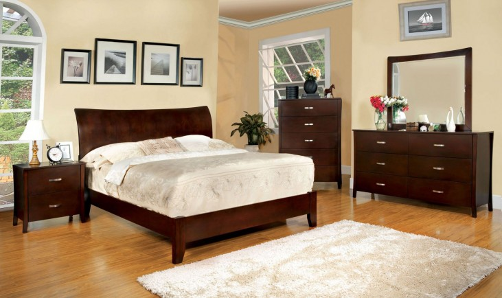 Midland Brown Cherry Youth Platform Bedroom Set